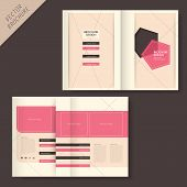 Geometry Brochure Design With Line And Grid