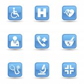 Medical Glossy Icons Set