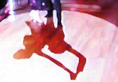 Ballroom dance floor abstract eighteen digital painting