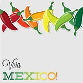 Viva Mexico Chilli Card In Vector Format.