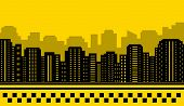 yellow backdrop for city taxi