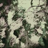 art abstract watercolor background in green, black and white-green colors
