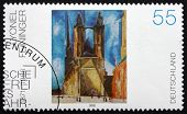 Postage Stamp Germany 2002 Halle Market Church, By Lyonel Feininger