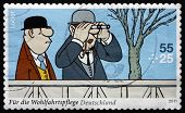 Postage Stamp Germany 2011 Two Racegoers