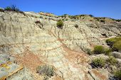 Badlands Escarpment In Summer