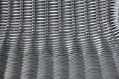 Black Plastic Basketwork In Horizontal And Vertical View