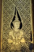 Thailand Mural Ancient Angel Door