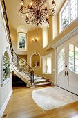 Luxury House Interior. Entrance Hallway