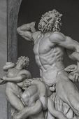 Statue Of Heracles Fighting A Giiant Snake, Capitoline, Rome, Italy
