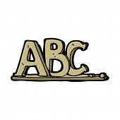 cartoon ABC letters