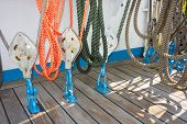 Elements Of Equipment Of A Yacht