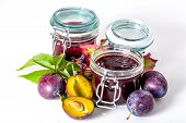 Jars With Plum Jam