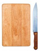 Knife and cutting board