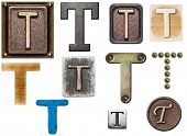 image of letter t  - Alphabet made of wood - JPG