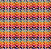 picture of zigzag  - vector seamless abstract pattern with color zigzags - JPG