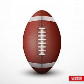 picture of stitches  - American Football ball isolated on a white background - JPG