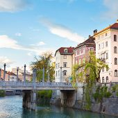 Medieval Ljubljana, capital of Slovenia, Europe.