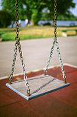 Old Swing On Playground