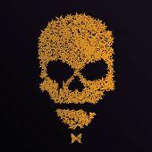Vector grunge skull