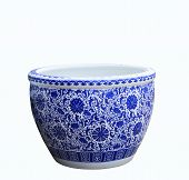 Old Chinese Flowers Pattern Style Painting On The Ceramic Bowl,.porcelain Isolated White Object