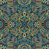 Abstract tribal ethnic seamless pattern