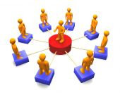 soziale Netzwerk-3d