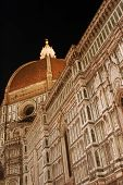 The Church Of Santa Maria Del Fiore In The Night - Florence - Italy 679