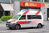 pic of ambulance car  - BERLIN GERMANY  - JPG