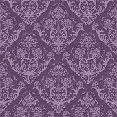 nahtlose purple floral wallpaper