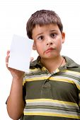 Boy With Blank Card 4