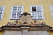 image of tenement  - The renaissance decor above gate into tenement house in Goerlitz Germany - JPG