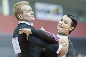Minsk-belarus, March, 16: Gennadiy Bardashevich - Elena Trushkova Perform Senior Standard European P