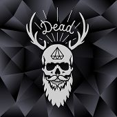 background with skull and horns