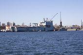 HMAS Choulas docked in Sydney Harbour