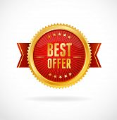Best Offer label. Vector illustration.