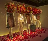 foto of department store  - Mannequins in the showcase ofa department store in Paris France - JPG