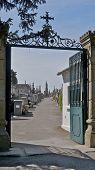 Graveyard entrance at CARCASSONNE CASTLE FRANCE
