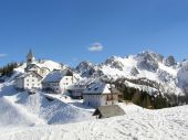 Mountain village in winter