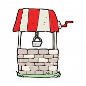 stock photo of wishing-well  - cartoon wishing well - JPG