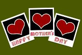Happy Mothers Day Frame With Heart Concept