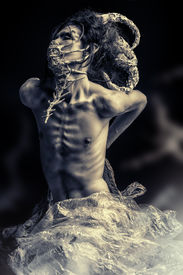 foto of creatures  - Frightening mythical creature male - JPG