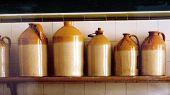 old jars on a shelf