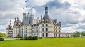 View At The Chateau De Chambord From Garden