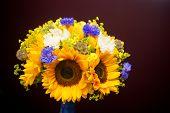 Bridal Sunflower Bouquet