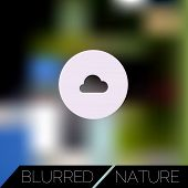 Abstract blurred UI concept with entertainment icons