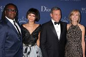 LOS ANGELES - OCT 8:  Kazembe Ajamu Coleman, Zendaya Coleman, Bob Iger, Willow Bay at the Princess Grace Foundation Gala 2014 at Beverly Wilshire Hotel on October 8, 2014 in Beverly Hills, CA