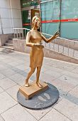 Sculpture Of A Woman Hug Me In Busan, Korea