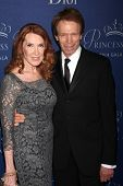 LOS ANGELES - OCT 8:  Linda Bruckheimer, Jerry Bruckheimer at the Princess Grace Foundation Gala 2014 at Beverly Wilshire Hotel on October 8, 2014 in Beverly Hills, CA