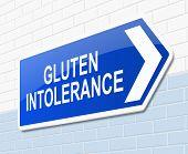 Gluten Intolerance Concept.
