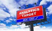 Analytics Target Inscription on Red Billboard.